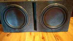 A set of Kenwood excelon subs and amplifier for sale