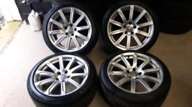 "Audi 18"" Pirelli Tyres A4 TECHNIK ULTRA ALLOY WHEELS GENUINE"