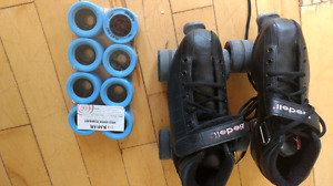 Ladies roller skates and equipment