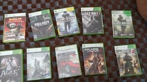 All of the 10 xbox 360 games