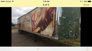 Aluminum tractor 52 ft trailer tow it away!  $600