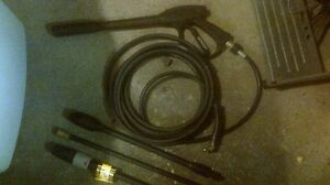Pressure washer, hose + wand  / attachments