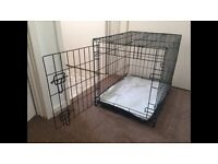 Collapsible Folding Pet Cage Crate Carrier for a Dog, Cat, etc