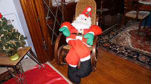 SANTA CLAUS IN HIS ROCKING CHAIR !! ~ LOVELY CHRISTMAS DECOR