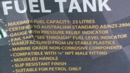 Boat Fuel Tank- 23L | Boat Accessories & Parts | Gumtree Australia