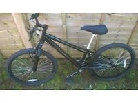 Black kids childrens mountain bike