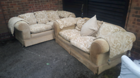 FREE DELIVERY!!!! 2+2 fabric DFS SOFAS