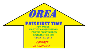 REAL ESTATE OREA EXAM NOTES AND QUESTIONS