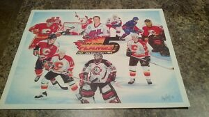 Saint John Flames - Fire and Ice Poster