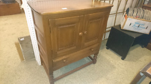 Antique small buffet great for small spaces unusual size