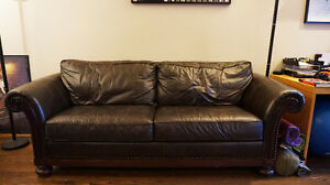 Bernhardt leather sofa and chair (willing to separate)