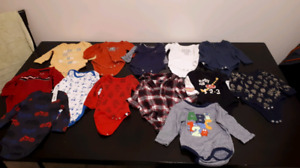 Boys 3-6m long sleeve onesies
