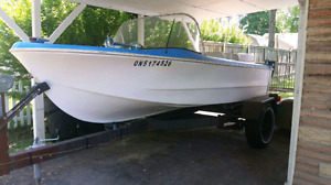 1964 glassmaster 14' runabout w/40hp evinrude