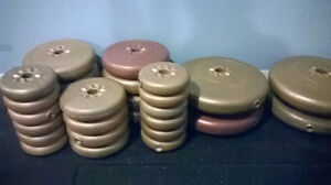 York plastic covered weight plates