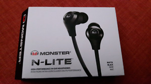 Écouteur monster N-lite high performance neuf dans leur boite