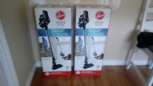 Black and gray hoover cruise upright vacuum