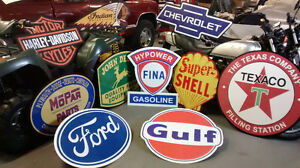 VINTAGE GAS AND OIL SIGNS