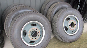 Dually set. LT215/85R16 Winters and Rims