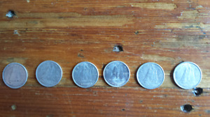 Silver Canadian Dimes - 1950, 56, 62, 63, 63, 68