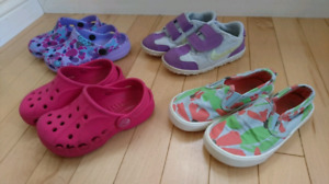 Girl's size 8 shoes & sandals