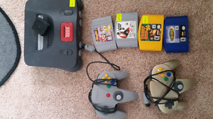 N64 with 2 controllers & 4 games