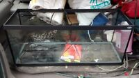 terrarium for reptile w lamp and double heating pad