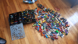 HUGE LOT of 240 Hot Wheels Toy Cars with Case Monster Trucks