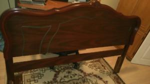 Solid Queen size wood headboard