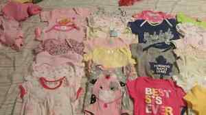 Huge lot of 0-3 baby girl clothes