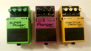 Lot of 3 BOSS Pedals