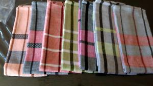 serviette  linge a vaisselle coton ou bambou fait metier tisser