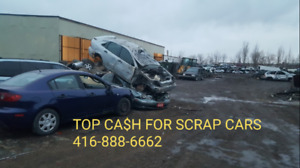 SCRAP JUNK CAR REMOVAL , TOP CASH ON THE SPOT & FREE TOW 24HR