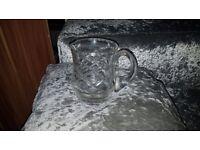 Lovely Lead Crystal Small Water Jug/Large Milk Jug