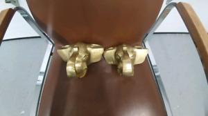 Tête d'éléphant en brasse vintage antique