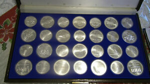 1976  Canadian olympics beautiful 28 sterling coins mint.