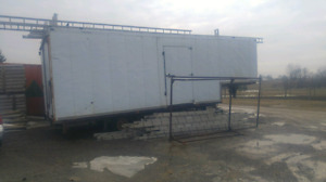 28 foot goose neck, insulated enclosed trailer