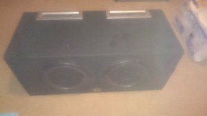 10 inch subs in box plus amp