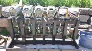 6 Antique Johnson outboards