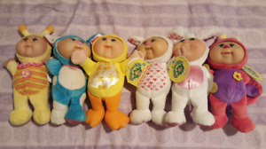 Lot of 6 New Cabbage Patch Kids Cuties with Tags