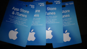 Apple itunes store credit gift cards $85