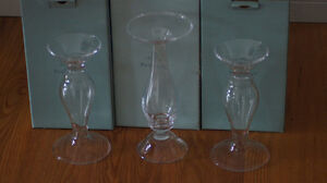 Partylite pillar holders - set of 3