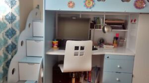 Compact Kid's Bunk-bed Set for Sale (used)