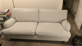 Dunelm 2/3 seater sofa Light Grey
