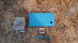 Blue Nintendo DSi System With Charger And Game!