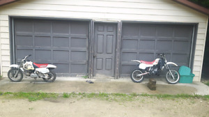1987 Yamaha yz 85     1997 Honda 70