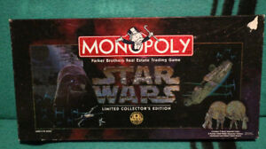 STAR WARS LTD. EDIT. MONOPOLY GAME - $35.00