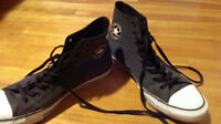 chaussures all star converse noir/gris pointure 10