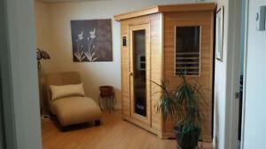 Sauna infrarouge en coin