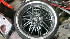 22 inch 5 bolt universal rims and tires