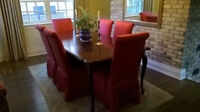 6 Dining Room Parson Chairs